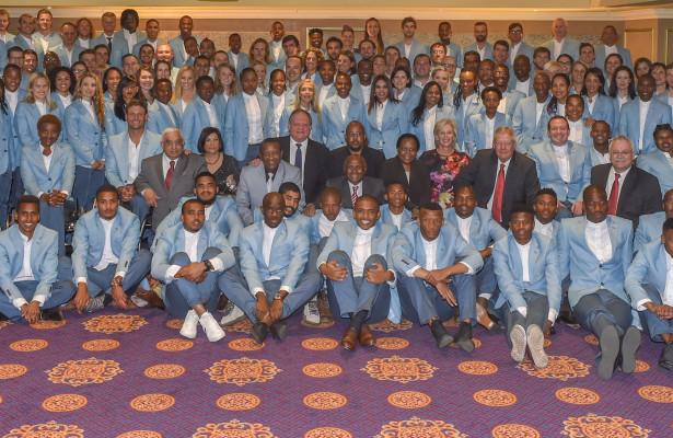 The SA team during the Olympic Games Team Farewell dinner at Emperors Palace. Johannesburg Photo: ©Christiaan Kotze/SASPA