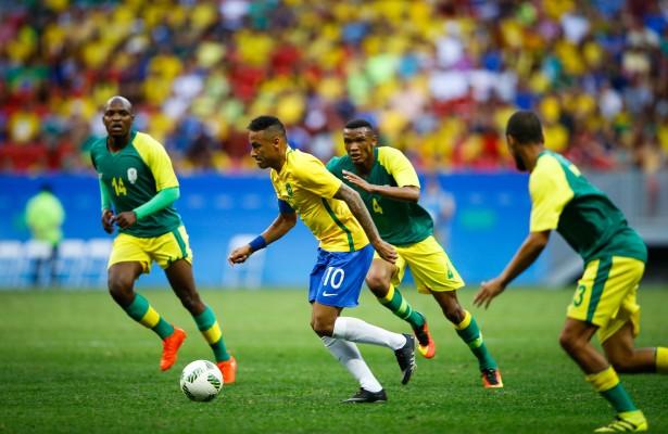 Olympics - 2016 Rio Olympic Games  - Mens Football - Brazil v South Africa - Mane Garrincha stadium - Brasilia - Brazi