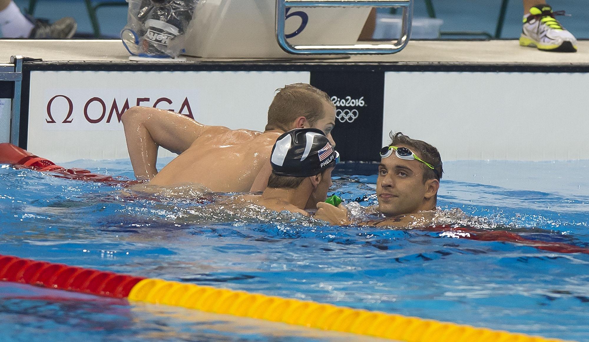 Le Clos fourth as Phelps reigns supreme