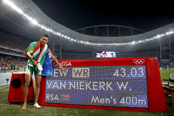 Image result for Wayde Van Niekerk IN RIO 2016