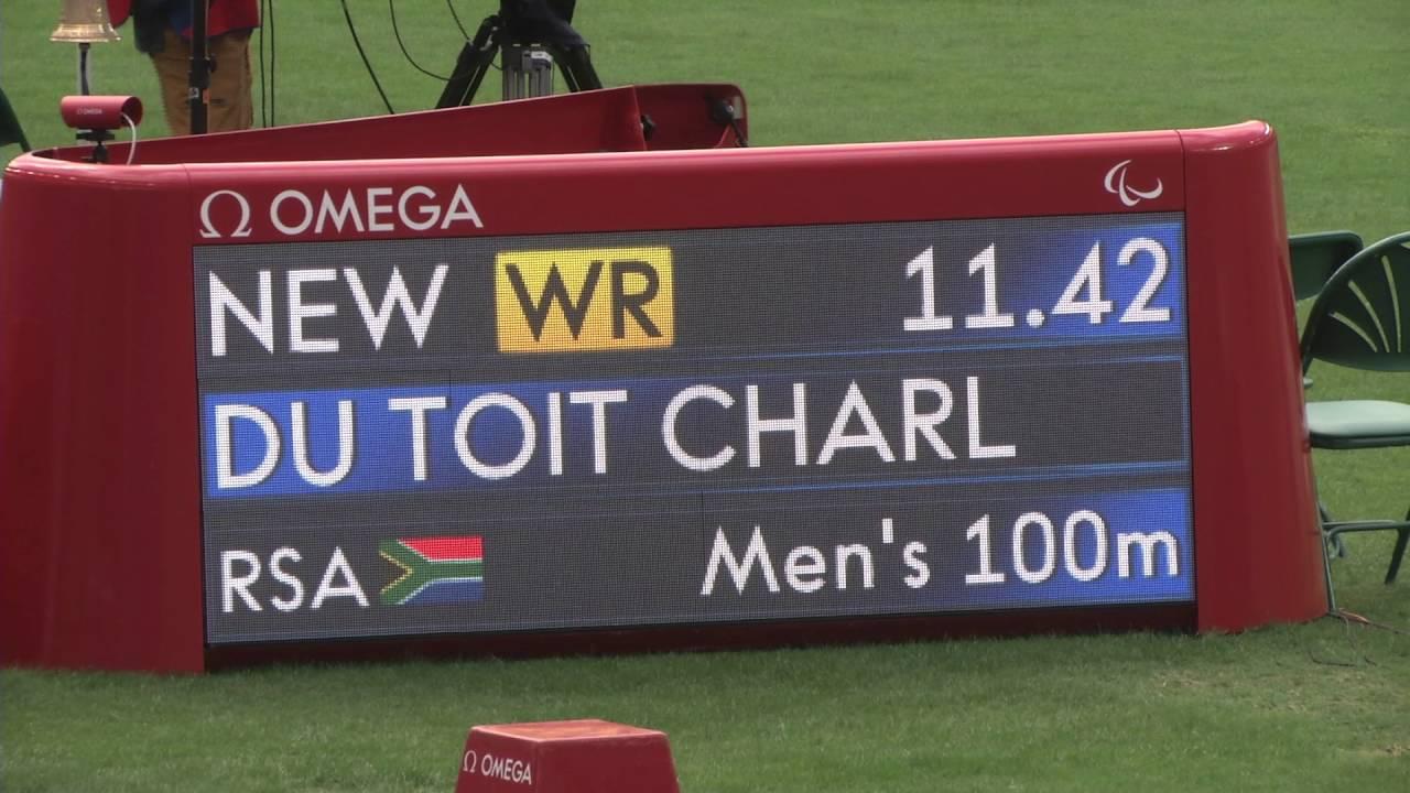 New World record for Charl du Toit