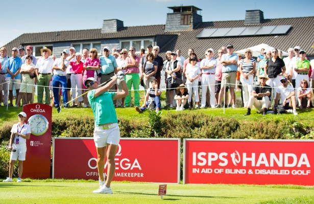 08/09/2016 Ladies European Tour 2016: ISPS HANDA Ladies European Masters, Golf Club Hubbelrath, Dusseldorf  8-11 September. Lee-Anne Pace of South Africa on the first tee during the first round. Credit: Tristan Jones