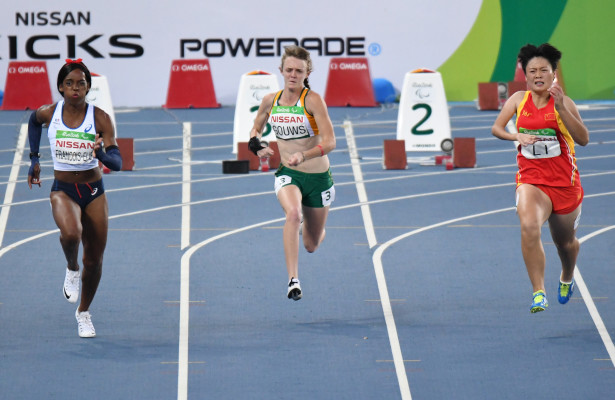 RIO DE JANEIRO, BRAZIL. 9 September 2016. South Africa's Liezel Gouws during the 100m in the Olmpi Stadium at the Paralympics  in Rio de Janeiro today.   Copyright picture by WESSEL OOSTHUIZEN / SASPA