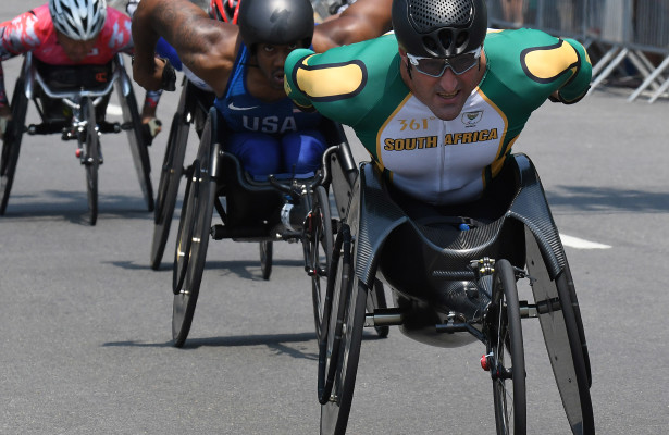 RIO DE JANEIRO, BRAZIL. 18 September 2016. South Africa's Ernst van Dyk during the marathon of the Paralympics in Rio de Janeiro today.   Copyright picture by WESSEL OOSTHUIZEN / SASPA