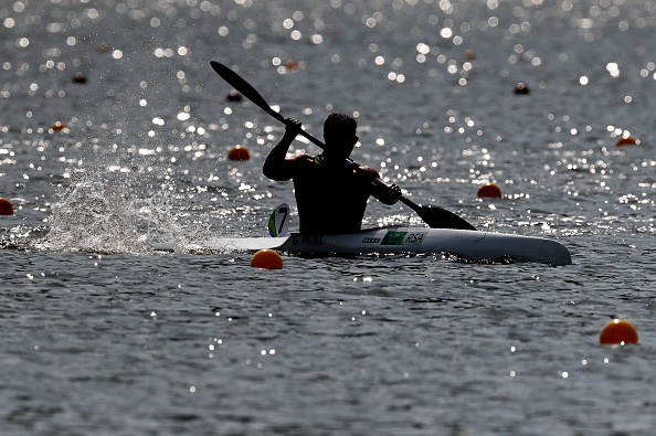 RIO DE JANEIRO, BRAZIL - SEPTEMBER 14: Graham Sean Paull of South Africa in action during the Canoe Sprint - Men's KL1 200m heat 2 at Lagoa Stadium on day 7 of the Rio 2016 Paralympic Games at  on September 14, 2016 in Rio de Janeiro, Brazil.  (Photo by Alexandre Loureiro/Getty Images)