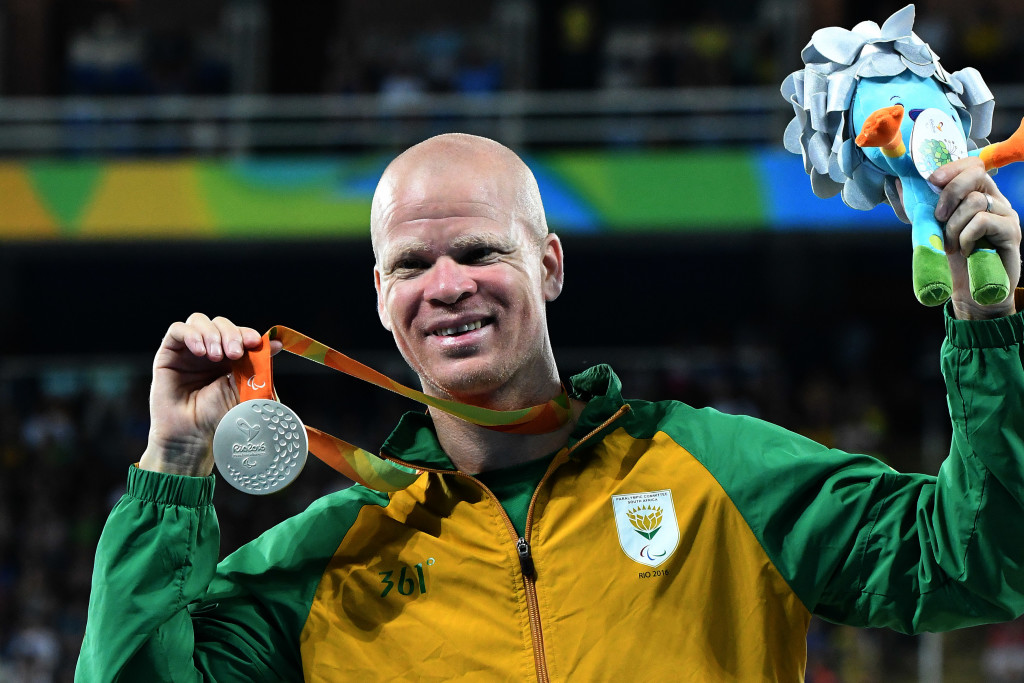 RIO DE JANEIRO, BRAZIL. 18 September 2016. South Africa'sHilton Langenhoven during the 200m final of the Paralympics in Rio de Janeiro today. Langenhoven won the silver medal. Copyright picture by WESSEL OOSTHUIZEN / SASPA