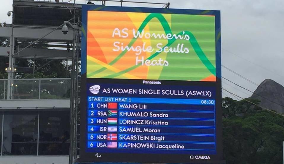 Sandra gets Team SA's rowing underway in Rio