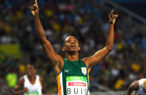 RIO DE JANEIRO, BRAZIL. 17 September 2016. South Africa's Dyan Buis during the 400m final of the Paralympics in Rio de Janeiro today. Buis won the gold medal.  Copyright picture by WESSEL OOSTHUIZEN / SASPA