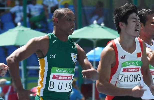 RIO DE JANEIRO, BRAZIL. 13 September 2016. South Africa's Dyan Buis during the 100m final of the Paralympics in Rio de Janeiro today.   Copyright picture by WESSEL OOSTHUIZEN / SASPA