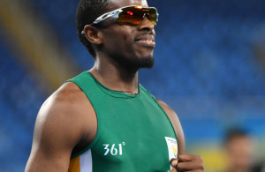 RIO DE JANEIRO, BRAZIL. 15 September 2016. South Africa's Jonathan Ntutu during the 100m of the Paralympics in Rio de Janeiro today. Ntutu won the silver medal.  Copyright picture by WESSEL OOSTHUIZEN / SASPA