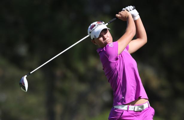 CAPE TOWN, SOUTH AFRICA - FEBRUARY 12: Lee-Anne Pace during day 3 of the 2016 Ladies Cape Town Open at Royal Cape Golf Club on February 12, 2016 in Cape Town, South Africa. EDITOR'S NOTE: For free editorial use. Not available for sale. No commercial usage. (Photo by Luke Walker/Sunshine Tour/Gallo Images)