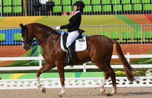 RIO DE JANEIRO, BRAZIL. 13 September 2016. South Africa's Phillipa Johnson in the dressage during the equestrian of the Paralympics in Rio de Janeiro today.   Copyright picture by WESSEL OOSTHUIZEN / SASPA