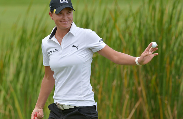 GEORGE, SOUTH AFRICA - FEBRUARY 21:Lee-Anne Pace during day 3 of the Ladies Tour Dimension Data Challenge at Outeniqua Golf Course on February 21, 2016 in George, South Africa. EDITOR'S NOTE: For free editorial use. Not available for sale. No commercial usage. (Photo by Thinus Maritz/Sunshine Tour/Gallo Images)s)