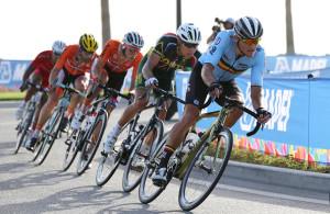 Cycling: 89th Road World Championships 2016 / Men Elite  Greg VAN AVERMAET (BEL)/ Nick DOUGALL (RSA)/ Niki TERPSTRA (NED)/  Aspire Zone - The Pearl Qatar (257,5km)/ Men Elite / WC / (Photo by KT/Tim De Waele/Corbis via Getty Images)