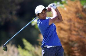 CAPE TOWN, SOUTH AFRICA - Wednesday 8 March 2016, Kajal Mistry tees off on the 2nd during the 1st Round of the Curro SA Juniors International at the Durbanville Golf Club.  Photo by Shaun Roy/ImageSA