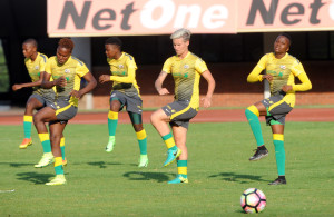 Gv of Banyana Banyana players   during the South Africa Afternoon Training 09 November 2016 at Independence Stadium, Zimbabwe Pic Sydney Mahlangu/ BackpagePix