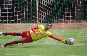 Andile Dlamini of South Africa  during the International Womens Friendly match between Zimbabwe and South Africa 10 November 2016 at National Stadium, Zimbabwe Pic Sydney Mahlangu/ BackpagePix