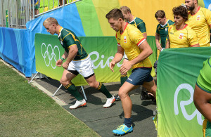 RIO DE JANEIRO, BRAZIL .9 AUGUST 2016. Kyle Brown during the Sevens Rugby match against  Spain at the Deodora Stadium in the Deodora Olympic Park at the  Rio 2016 Olympic Games today.    Copyright picture by WESSEL OOSTHUIZEN / SASPA