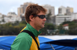 RIO DE JANEIRO, BRAZIL. 31 JULY 2016.  Roger Barrow, manager, during the training session of the rowers of Team SA at the Lagoa Rodrigo de Freitas rowing venue in Rio de Janeiro today.   Copyright picture by WESSEL OOSTHUIZEN / SASPA