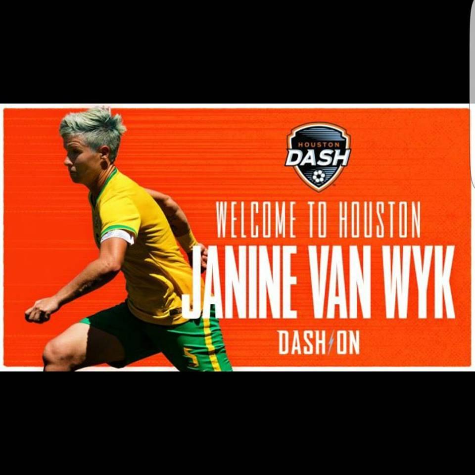 Banyana skipper Van Wyk is off to Houston