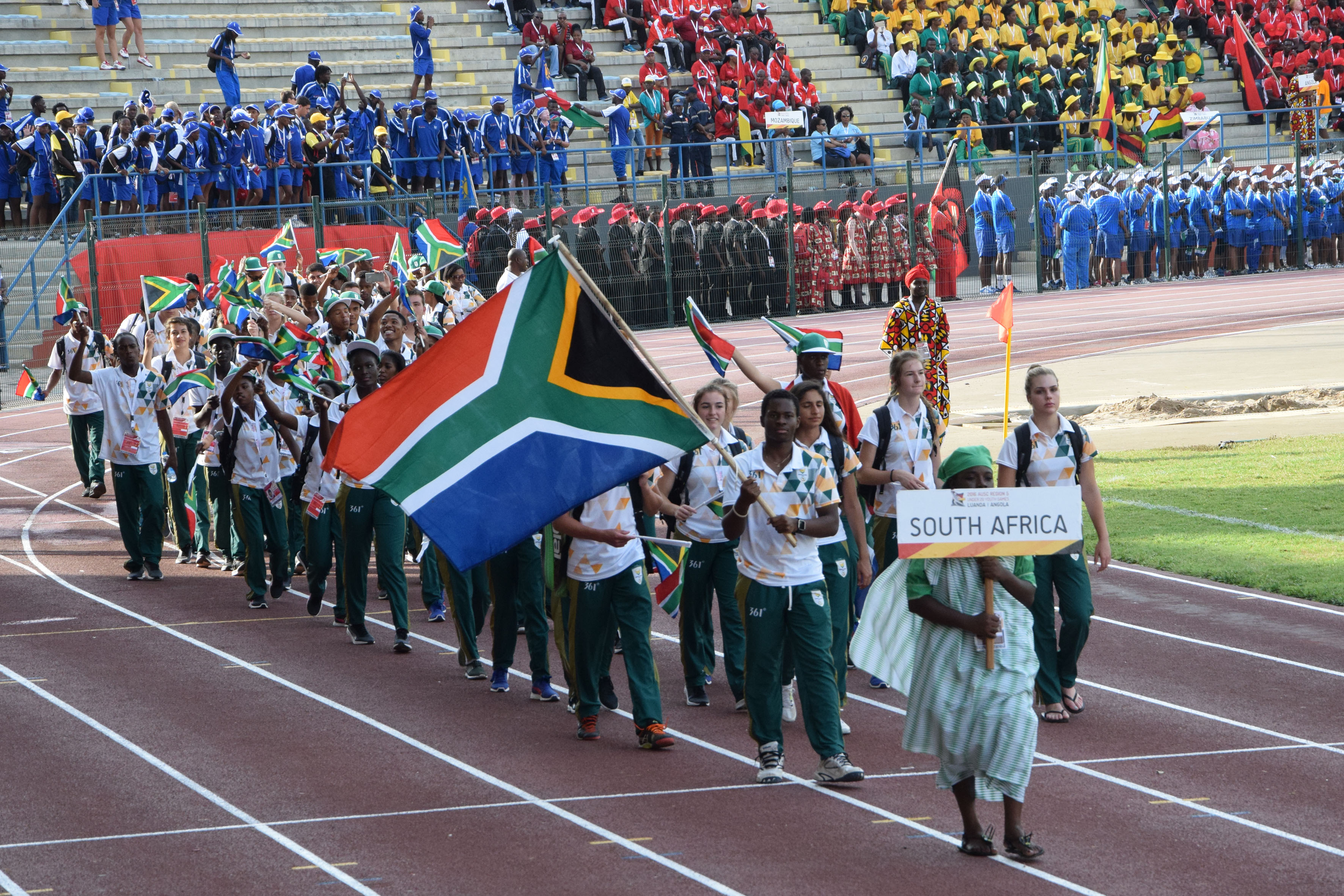 Team SA leads the way at Region 5 Games opening ceremony