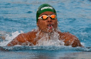 LUANDA, ANGOLA - DECEMBER 15: Michael Houlie during the swimming on day 6 of the 2016 Africa Union Sports Council Region 5 Games on December 16, 2016 in Luanda, Angola. (Photo by Wessel Oosthuizen/Gallo Images)