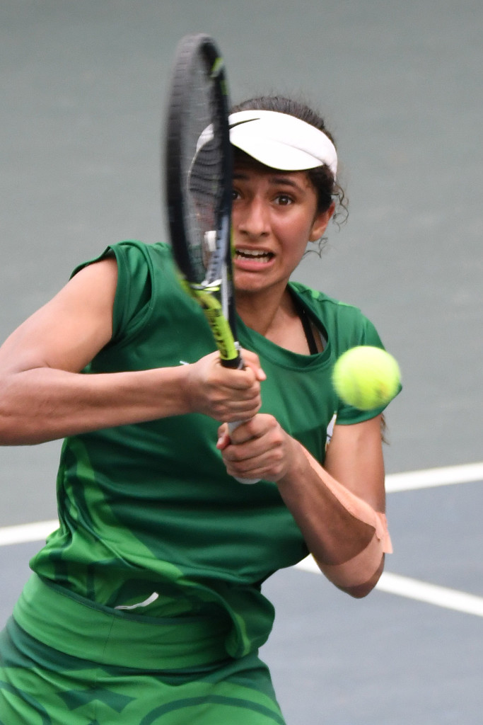 LUANDA, ANGOLA - DECEMBER 12: Imaan Hassim during the tennis on day 4 of the 2016 Africa Union Sports Council Region 5 Games on December 12, 2016 in Luanda, Angola. (Photo by Wessel Oosthuizen/Gallo Images)