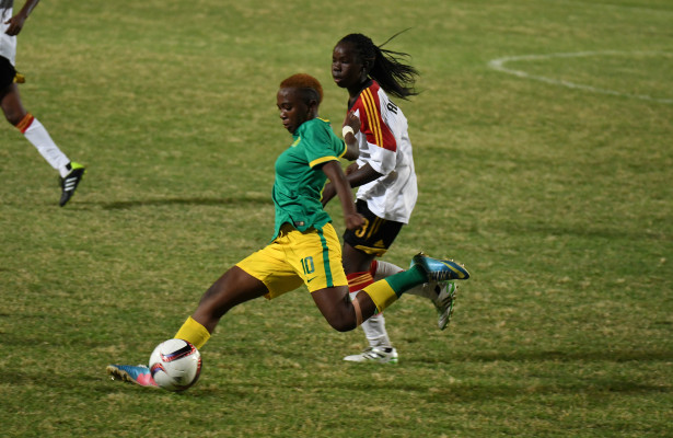 LUANDA, ANGOLA - DECEMBER 09: Karabo Dlamini during the South Africa vs Angola soccer match of the 2016 Africa Union Sports Council Region 5 Games on December 09, 2016 in Luanda, Angola. (Photo by Wessel Oosthuizen/Gallo Images)