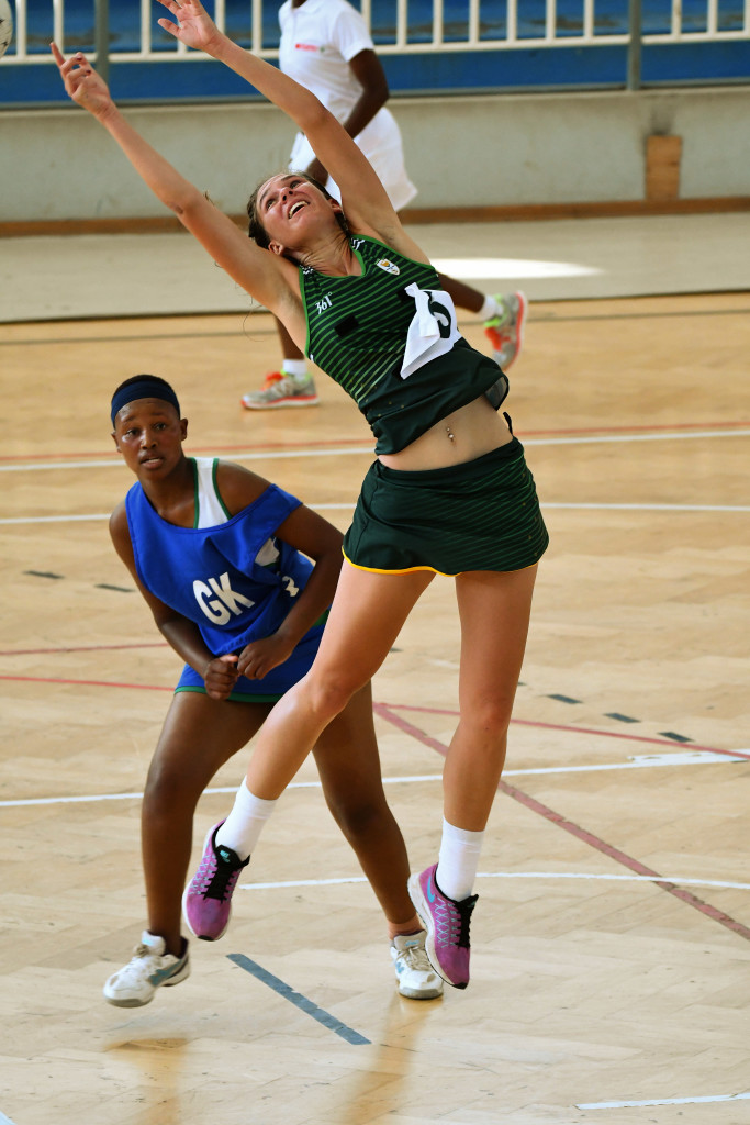 LUANDA, ANGOLA - DECEMBER 11: Chantell Swart during the South Africa vs Swaziland in netball on day 3 of the 2016 Africa Union Sports Council Region 5 Games on December 11, 2016 in Luanda, Angola. (Photo by Wessel Oosthuizen/Gallo Images)