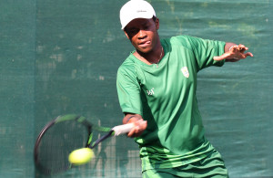 LUANDA, ANGOLA - DECEMBER 12: Richard Thongoana during the tennis on day 4 of the 2016 Africa Union Sports Council Region 5 Games on December 12, 2016 in Luanda, Angola. (Photo by Wessel Oosthuizen/Gallo Images)