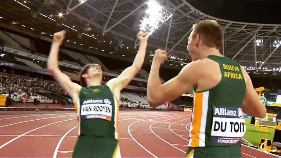 Du Toit on his gold medal dash in London
