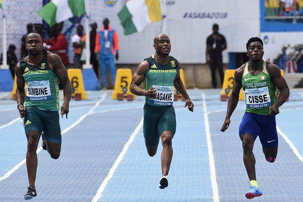 Akani Simbine and Simon Magakwe
