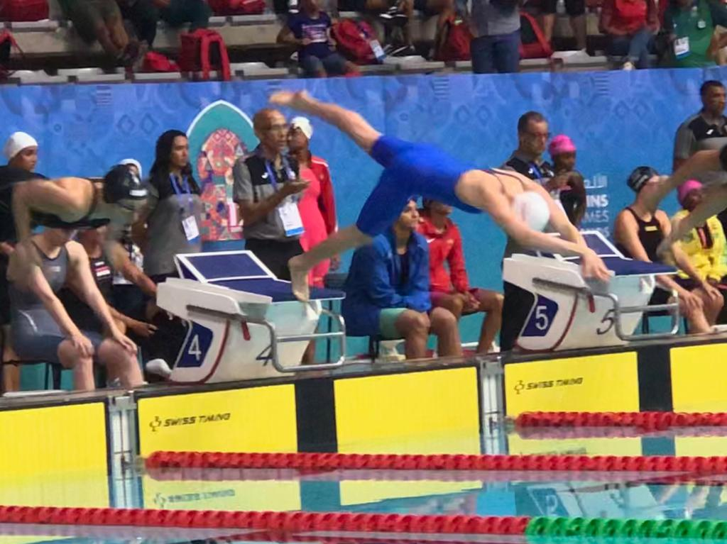 Gallagher shows the way in the pool in Durban