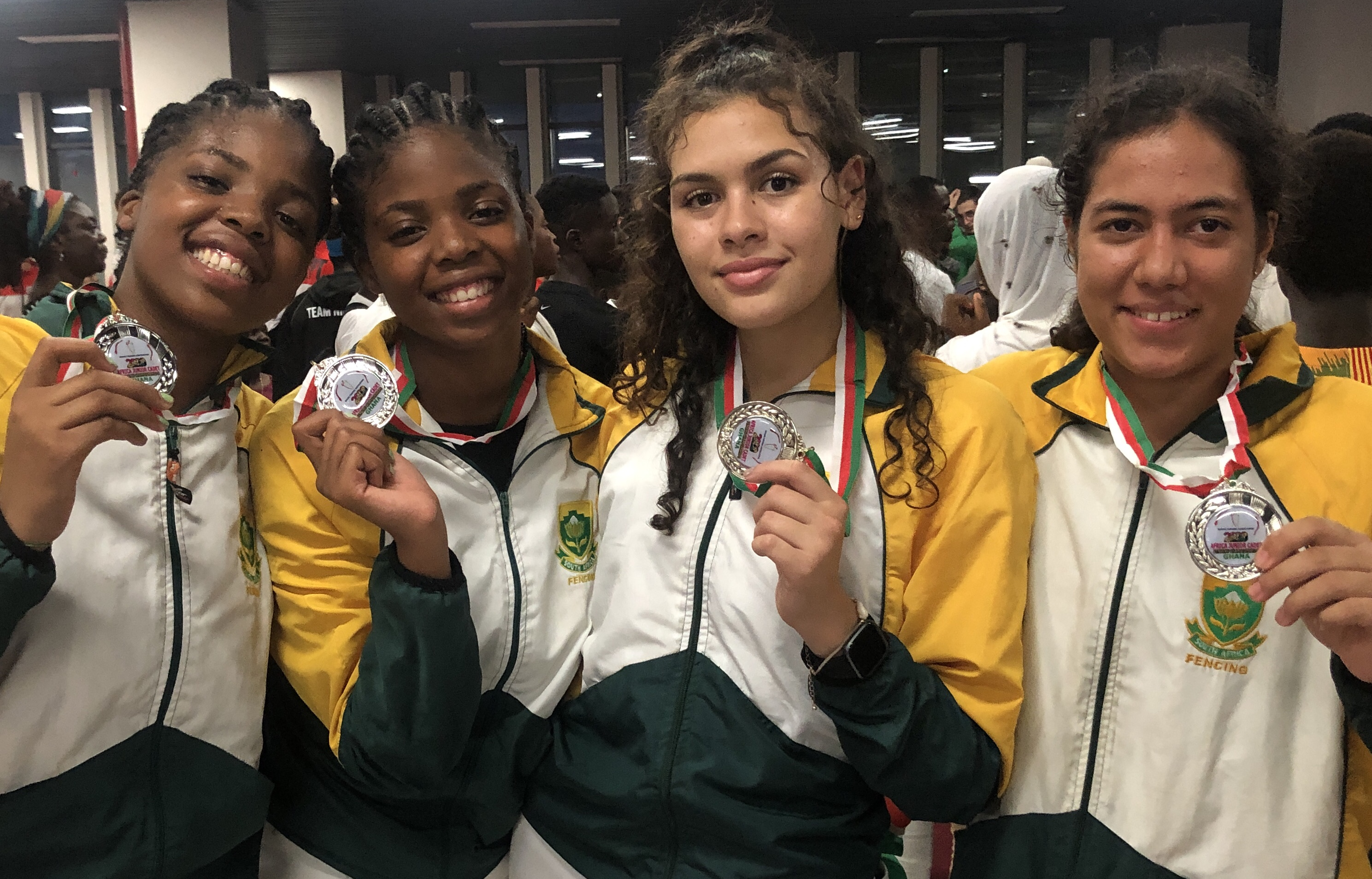 SA Under-20 Women's Epee team
