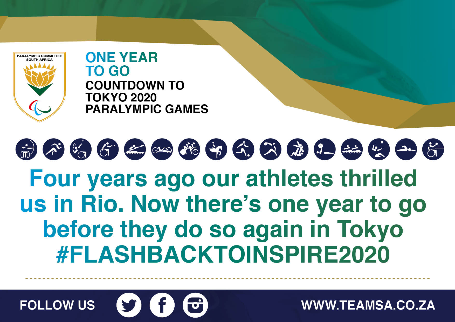 One year to go to Tokyo Paralympics