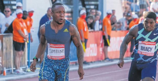 Sizzling Simbine smashes SA 100m record